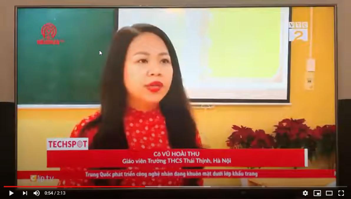 Hoạt động dạy học trực tuyến của nhà trường được VTC2 đưa tin