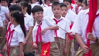 Lễ khai giảng năm học 2019 - 2020 trường THCS Thái Thịnh, Quận Đống Đa, Hà Nội.