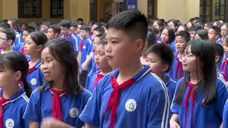 Thể dục giữa giờ tại trường THCS Thái Thịnh, Hà Nội