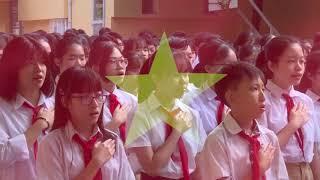 Lễ chào cờ đầu tuần tại THCS Thái Thịnh, Hà Nội
