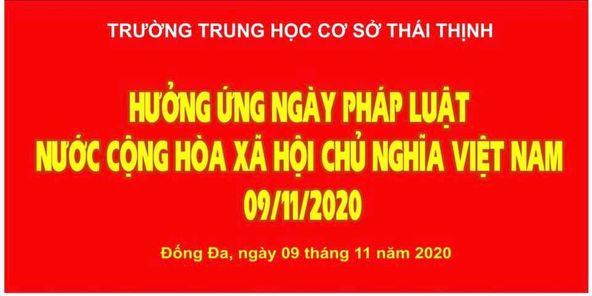Hưởng ứng ngày pháp luật nước Cộng hoà xã hội chủ nghĩa Việt Nam