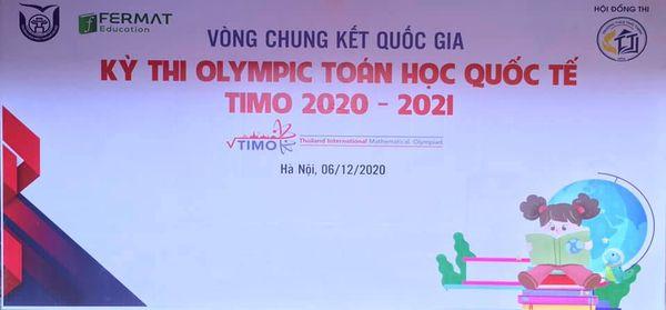Vòng Chung Kết Quốc Gia Kỳ Thi Olympic Toán Học Quốc Tế Timo 2020-2021