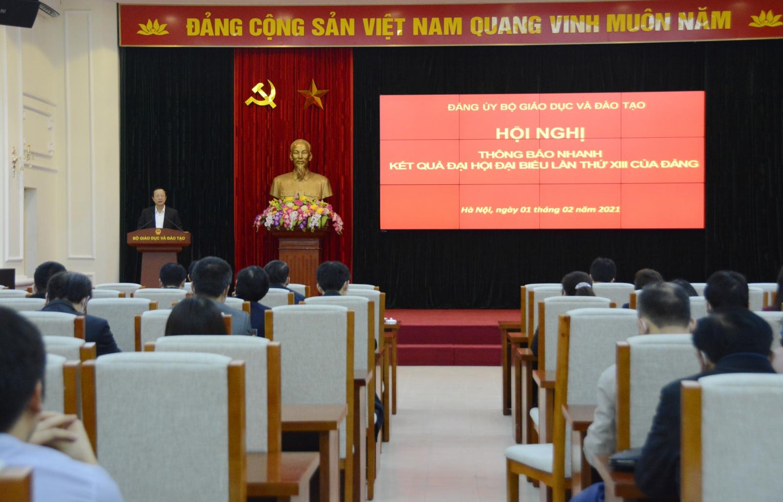 Đảng ủy Bộ GD&ĐT thông tin về kết quả Đại hội đại biểu toàn quốc lần thứ XIII của Đảng