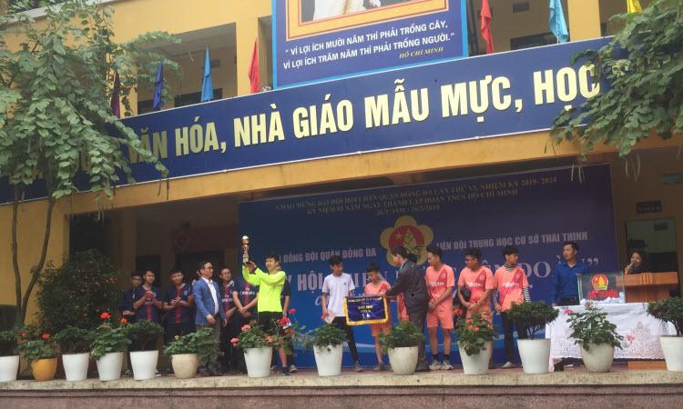 TỔNG KẾT VÀ TRAO GIẢI HỘI THI BÓNG ĐÁ HỌC SINH TRƯỜNG THCS THÁI THỊNH, NĂM HỌC 2018 - 2019